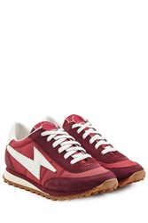 Marc Jacobs Suede And Fabric Sneakers Red