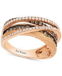 Le Vian Chocolatier Diamond Multi Band Crisscross Ring 9 10 Ct. T.W. In 14K Rose Gold