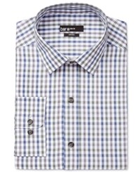 Bar Iii Men's Slim Fit Multicolor Gingham Dress Shirt Only At Macy's Olive