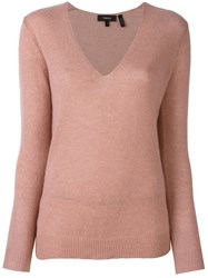 Theory 'Adrianna' Fine Knit Jumper Pink And Purple