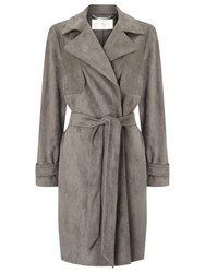 Windsmoor Suedette Trench Coat Mid Grey
