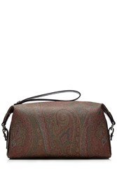 Etro Paisley Print Zipped Toiletries Bag Multicolor