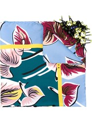 Marni Floral Scarf With Sequin Embroidery Multicolour