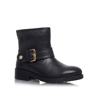 Kurt Geiger Shadow Low Heeled Ankle Boots Black Leather