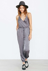 Silence And Noise Silence Noise Silky Harem Jumpsuit Dark Grey