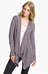 Splendid Women's Draped Thermal Hoodie Shadow