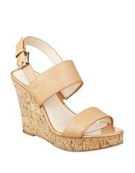 Nine West Lucini Cork Wedge Sandals Natural