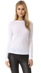 Vince Long Sleeve Slub Tee Optic White