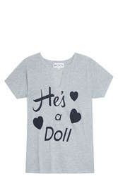 Wildfox Couture He's A Doll T Shirt Hthr Gray