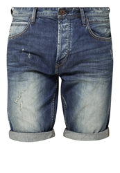 Tom Tailor Denim Denim Shorts Vintage Stone Wash Denim Blue Denim