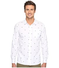 Tavik Porter Long Sleeve Duo Print White Duo Men's Long Sleeve Pullover