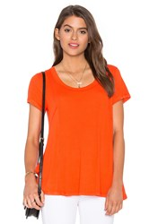 Heather Paneled Swing Top Orange