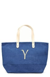 Cathy's Concepts 'Nantucket' Personalized Jute Tote Blue Blue Y