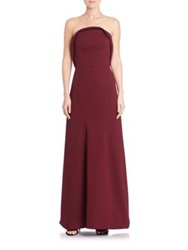 Zac Posen Bonded Crepe Strapless Gown African Violet
