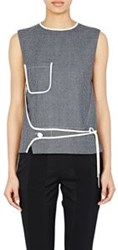 Paco Rabanne Wrap Panel Sleeveless Top Grey