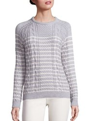 Vineyard Vines Cable Knit Cotton Sweater Grey