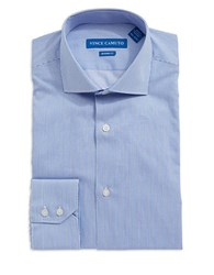 Vince Camuto Modern Fit Striped Dress Shirt Blue