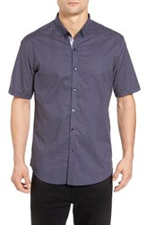 7 Diamonds Men's Atomic Lullaby Slim Fit Woven Shirt