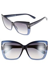 Women's Tom Ford 'Irina' 59Mm Sunglasses Turquoise Gradient Blue