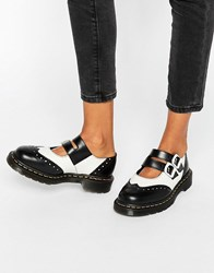 Dr. Martens Dr Adena Ii Mary Jane Flat Shoes Black Smooth White Multi