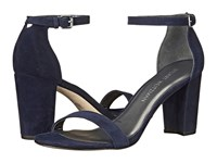 Stuart Weitzman Nearlynude Nice Blue Suede Women's Shoes Navy