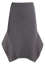Kiomi Aline Skirt Grey Melange Dark Grey
