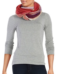 Echo Striped Knit Infinity Loop Scarf Berry