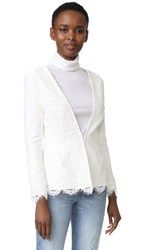 Cupcakes And Cashmere Tess Fitted Lace Blazer Ivory