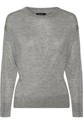 Isabel Marant Ben Cashmere And Silk Blend Sweater Gray