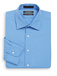 Saks Fifth Avenue Slim Fit Cotton Dress Shirt French Blue