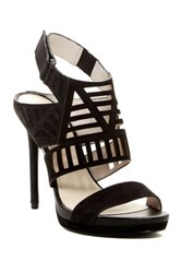 Kenneth Cole Nikko Cutout Platform Sandal Black