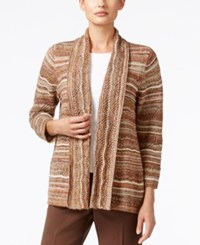 Alfred Dunner Santa Fe Collection Space Dyed Metallic Cardigan Multi