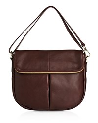 Whistles Duffy Zip Shoulder Bag Dark Red
