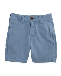 Tailor Vintage Double Jersey Knit Walking Shorts Woody Blue