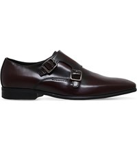 Kg By Kurt Geiger Root Lather Monk Shoes Wine