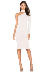 Nookie Girl Talk One Shoulder Midi Dress Blush