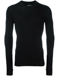 Blk Dnm Fitted Jumper Black