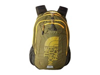 The North Face Tallac Burnt Olive Green Zinnia Orange Graphic Backpack Bags