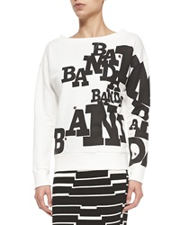 Band Of Outsiders Boat Neck Banda And Ladybug Sweatshirt 0 Uk 0