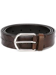 Brunello Cucinelli Classic Buckle Belt Brown
