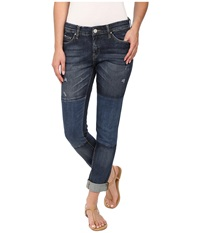 Blank Nyc Denim Patchwork Slim Boyfriend In Blue Blue Women's Jeans