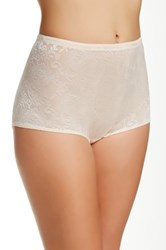 Joan Vass Mesh Padded Panty Brief Plus Size Available Beige