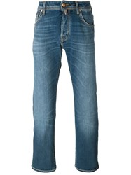 Jacob Cohen Five Pocket Straight Jeans Blue