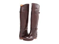 Frye Dorado Riding Dark Brown Smooth Polished Veg Women's Pull On Boots Taupe