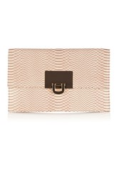 Coast Filippa Snake Skin Clutch Bag Blush