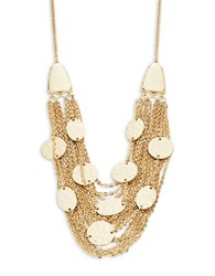 Rj Graziano Hammered Disc And Chain Necklace Gold