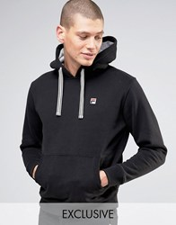 Fila Vintage Hoodie With Small Logo Black