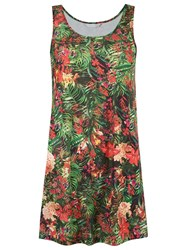 Lygia And Nanny Round Neck Printed Dress Green