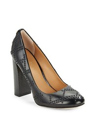 Calvin Klein Junie Leather Studded Pumps Black