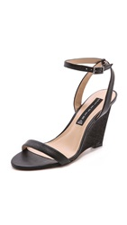 Steven Carolee Wedge Sandals Black